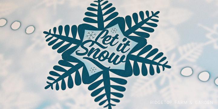 Ridgetop Farm and Garden | 12 Days of December | Let it Snow | Printable Freebie