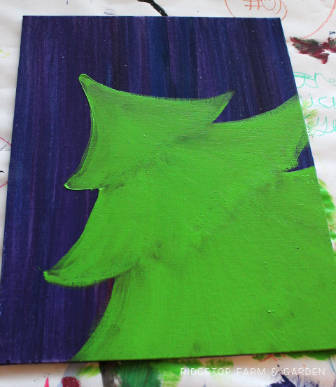 Ridgetop Farm and Garden | 12 Days of December | Easy Christmas Tree Canvas Painting | Tutorial | DIY