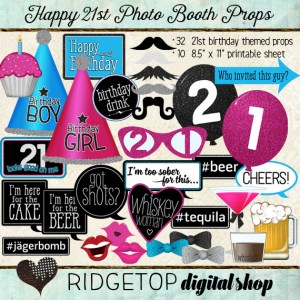 Ridgetop Digital Shop | Photo Booth Props | 21st Birthday
