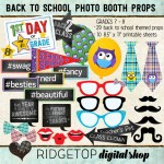 Ridgetop Digital Shop | Photo Booth Props | Back to School | 7th | 8th | Grade | Middle School