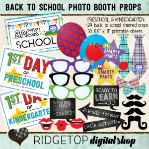 Ridgetop Digital Shop | Photo Booth Props | Back to School | Preschool | Kindergarten