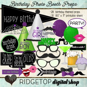 Ridgetop Digital Shop | Photo Booth Props | Birthday