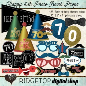 Ridgetop Digital Shop | Photo Booth Props | 70th Birthday