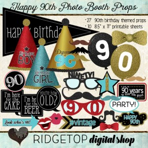 Ridgetop Digital Shop | Photo Booth Props | 90th Birthday