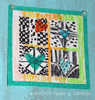 Ridgetop Farm and Garden | Valentine's Day | Mixed Media Collage | Kid's Craft