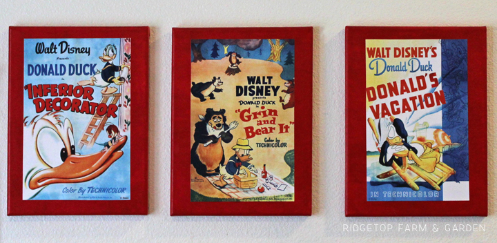Ridgetop Farm and Garden | Disney Gallery Wall | Donald Duck Poster Trio