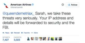 Response from American Airlines