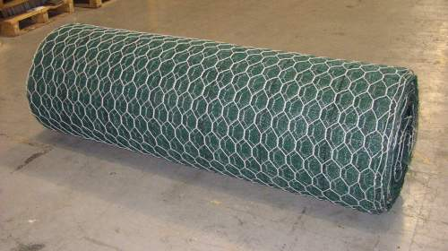 A coil of rock netting ready to be delivered.