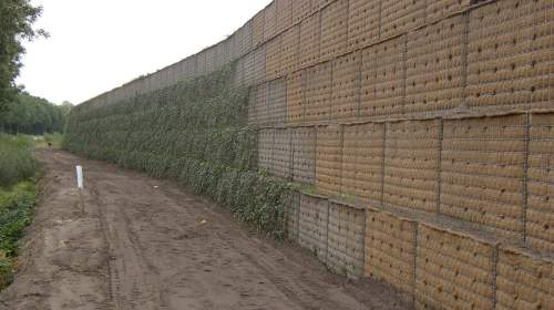 Vegetation can be grown on the faces of bastions.