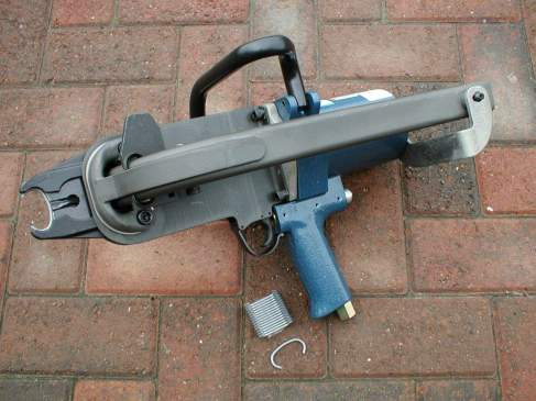 Hog Ring Assembly Gun, used to assemble gabions