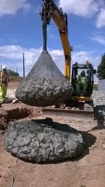 2 Tonne Filter Unit Filled With 1 Tonne of Stone