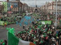 Ridgeway crowd control barriers in Dublin on St Patricks Day