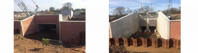 ilter unit installed on the Croston Flood Risk Management Scheme