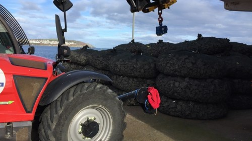 Filter Unit Rockbags deployed for scour protection.