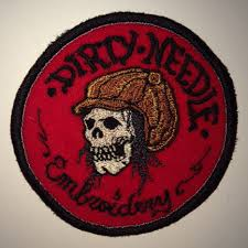 Dirty-Needle-Skul-Patch