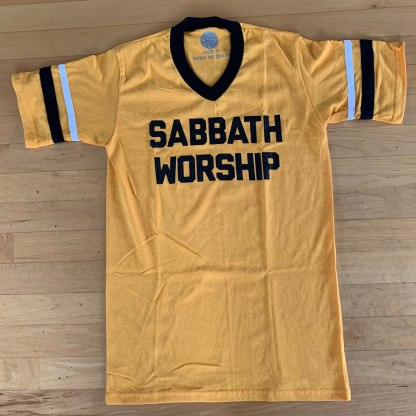 Sabbath Worship Tee Gold Black