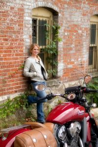 Leah with her Indian Scout