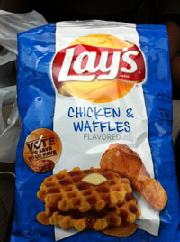 Lays chicken & waffles chips, bet you CAN eat just one, chris doelle, marketing, austin, texas
