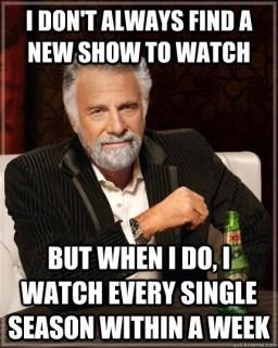 Binge viewing, watching