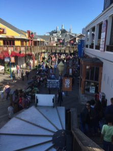 Looking back over Pier 39 from second floor