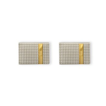 Weber Jewelry Silver Textured Cuff Links