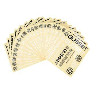 Set adesivi Gusset 22x14cm, contiene 11 adesivi, il più grande misura 11cm. Wow!