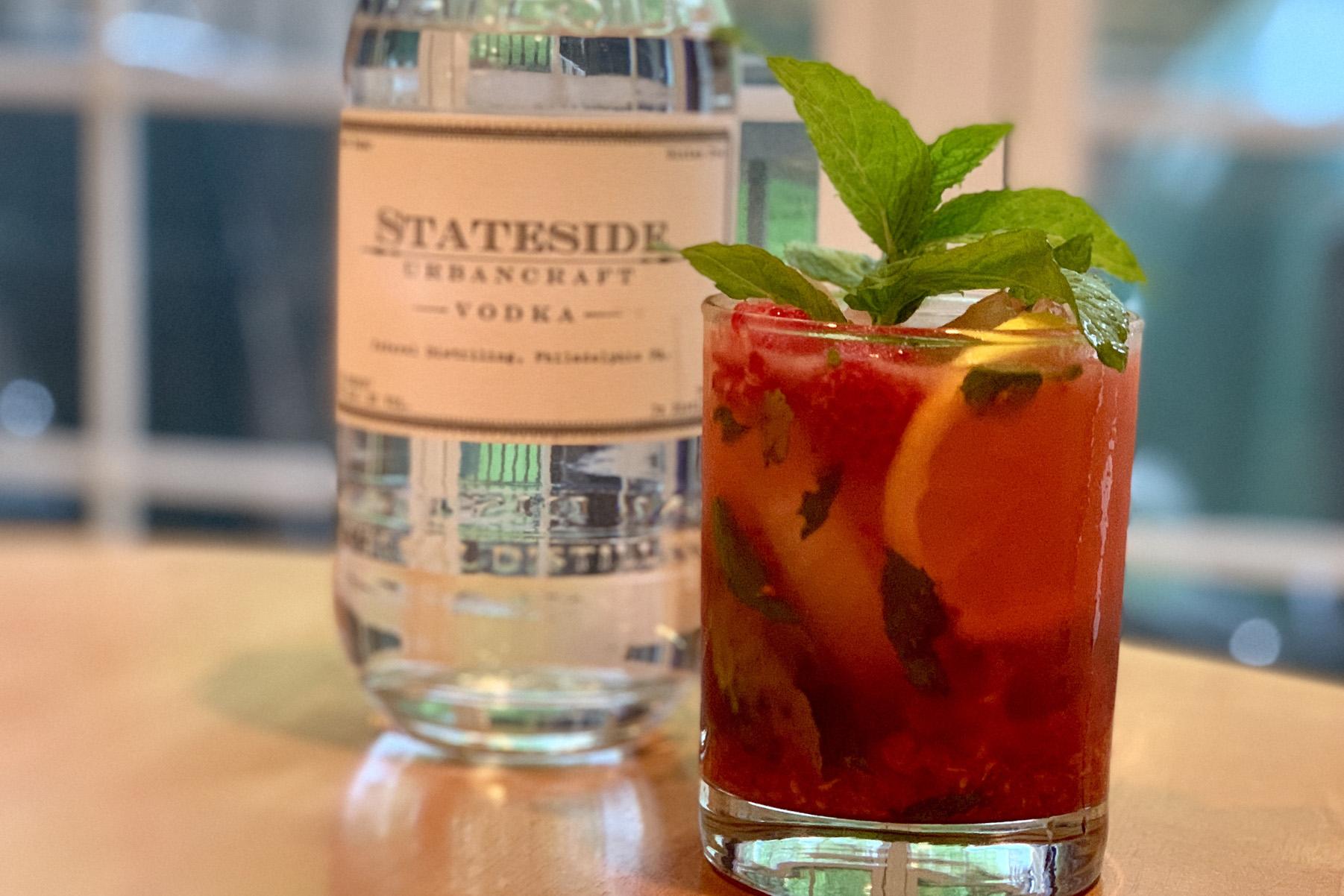 Raspberry-Mint Vodka Smash