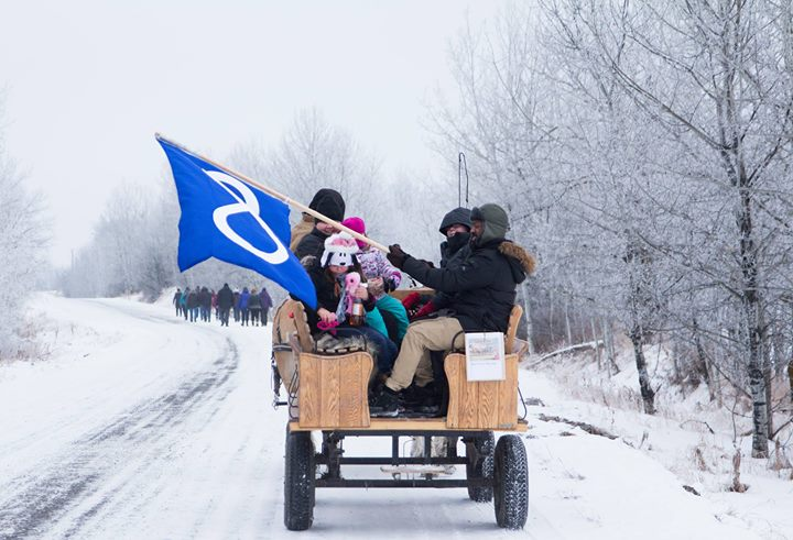 This is from the walk this year, one that commemorated Riel's death. Well done Metis Nation of Alberta