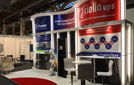 Riello UPS exhibition stand at Data Centres Ireland 2017