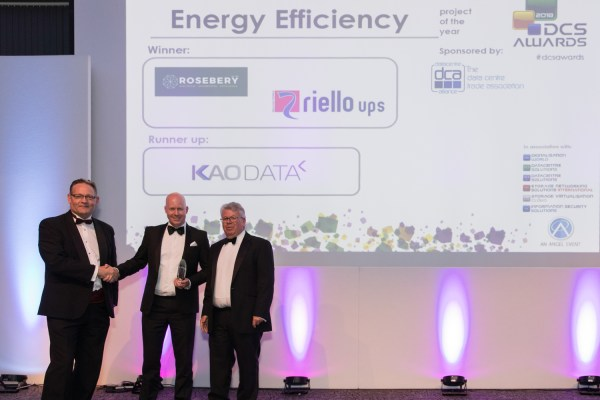 Riello UPS & The Rosebery Group win data centre energy efficiency project of the year at DCS Awards 2018 ceremony