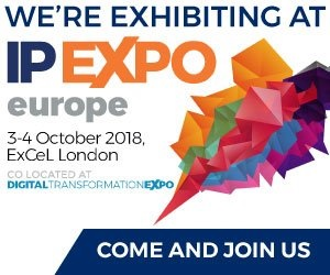 exhibiting at IP Expo Europe 2018 social media graphic