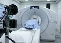 Patient entering a hospital MRI scanner