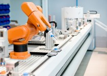 robot on pharmaceutical production line