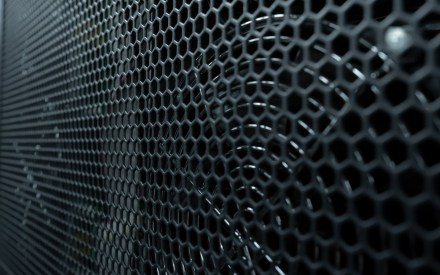 Close up of fans and mesh covering on a Riello UPS multi power (MPW) uninterruptible power supply