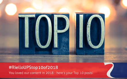 Top 10 most read blog posts for Riello UPS in 2018