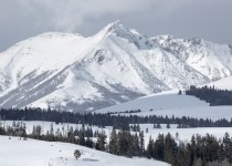 winter energy crisis landscape of snowy mountains