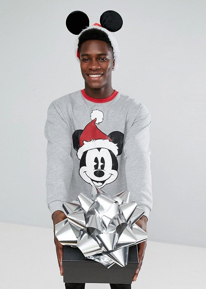 Pull Gris Homme Imprim Disney Mickey Nol ASOS Mode