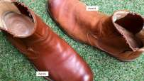 Test cirage de chaussures marron - Cuir