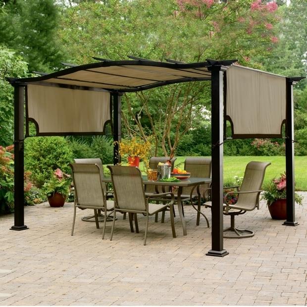 Metal Pergola With Canopy Pergola Gazebo Ideas