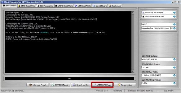 RIFF Box JTAG Manager v1.87 , eMMC/UFS Partition Manager v5.09 released