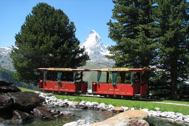 Riffelalp trolley from train stop to Hotel