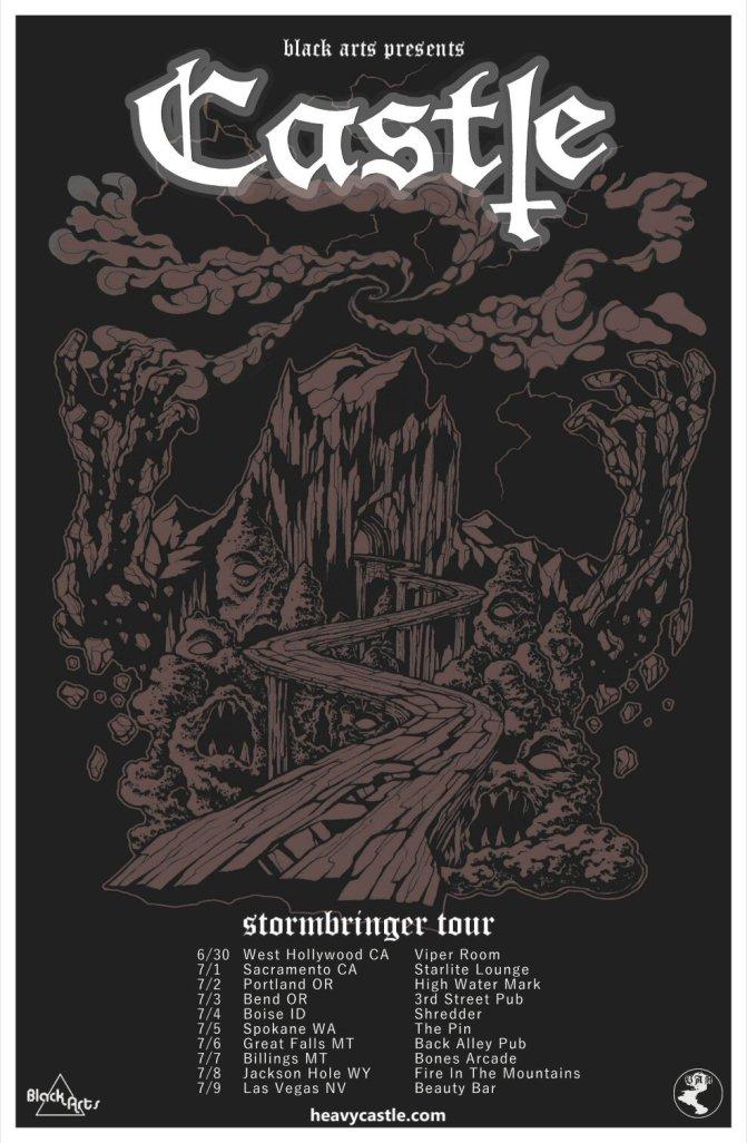 Castle - Stormbringer Tour Poster