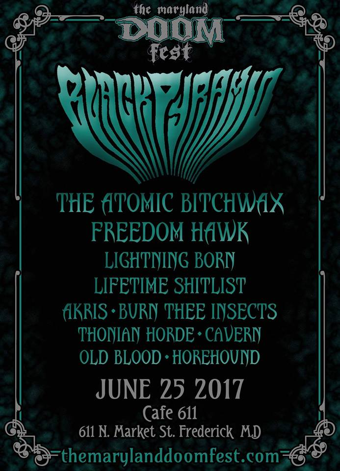 MARYLAND DOOM FEST 2017; Day Three 6/25 – Leanne's Must-See Bands #4