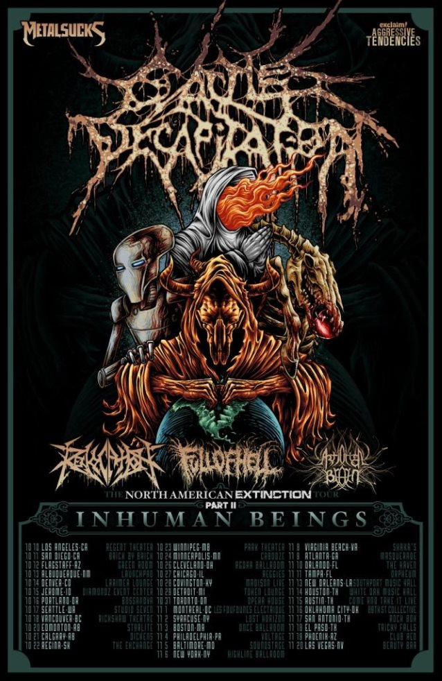 cattle decapitation tour poster