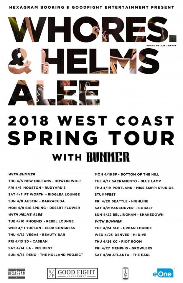 Whores. 2018 Spring Tour