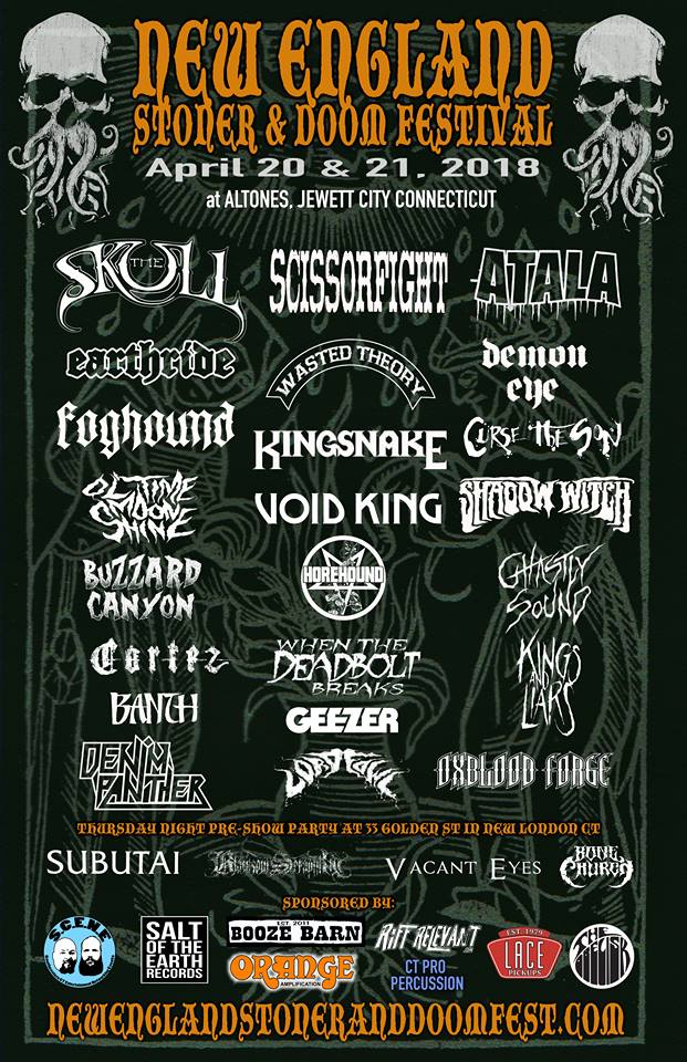New England Stoner & Doom Festival Poster