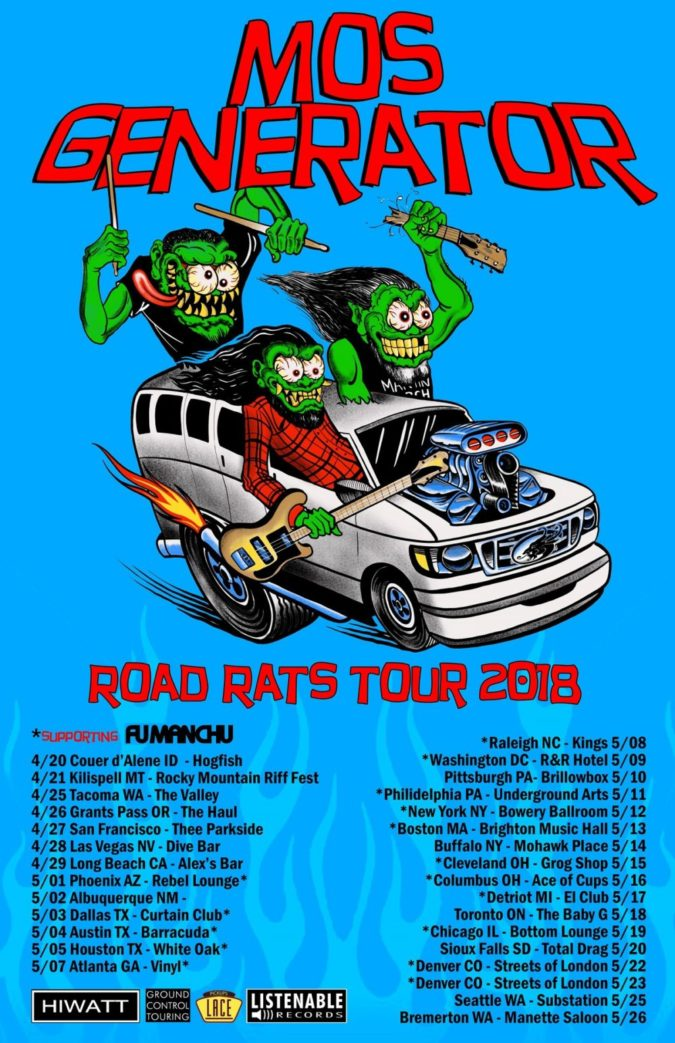 Mos Generator Road Rats Tour