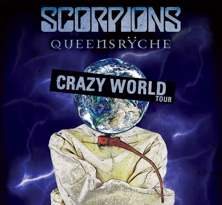 Image result for Scorpions/Queensryche crazy world tour photos