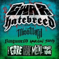 GWAR & HATEBREED Co-Headline 'Gore, Core, Metal & More Tour' w/ RINGWORM, MISS MAY I, AMERICAN SHARKS