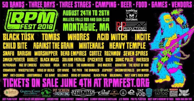 RPM FEST: Early Bird Sale Ends 7/2; Fest 'NYP' Compilation BLACK TUSK, TOMBS, WHORES, ACID WITCH+More